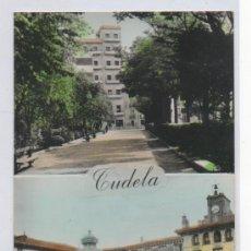 Cartes Postales: TARJETA POSTAL DE TUDELA PASEO DE INVIERNO Y PLAZA DE LOS FUEROS NAVARRA SEAT 600. Lote 13501046