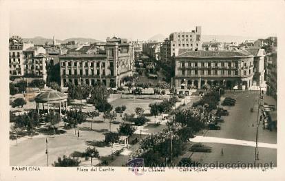 PAMPLONA – PLAZA DEL CASTILLO – MANIPOL RETRO. NO.142205 (Postales - España - Navarra Moderna (desde 1.940))