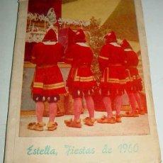 Postales: ANTIGUO PROGRAMA DE LAS FIESTAS DE ESTELLA - AÑO 1960 - TOROS, ENCIERROS, ANUNCIOS PUBLICITARIOS, FO. Lote 24797324