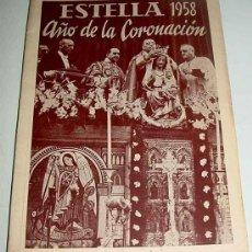Postales: ANTIGUO PROGRAMA DE LAS FIESTAS DE ESTELLA - AÑO 1958 - MUCHAS FOTOGRAFIAS DEL CAMPEONATO DE ESPAÑA . Lote 24704156