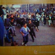 Postales: POSTAL PAMPLONA FIESTAS DE SAN FERMIN Nº 8 EL ENCIERRO CIRCULADA. Lote 14280827