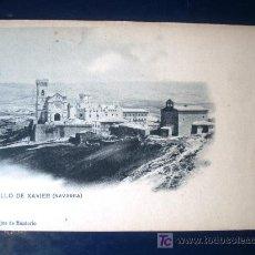 Postales: POSTAL ANTIGUA NAVARRA CASTILLO DE XAVIER. PROPIEDAD HIJOS DE MONTORIO. HAUSER&MENET. Lote 25671562