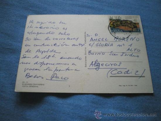 Postales: POSTAL NAVARRA ELIZONDO 1980 CIRCULADA - Foto 2 - 15743637