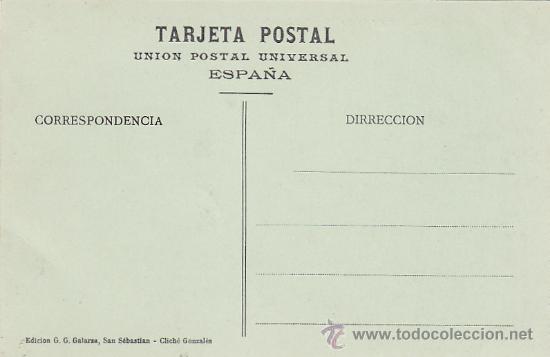 Postales: SAN SEBASTIAN (GUIPUZCOA): ISLA DE SANTA CLARA Y BAHIA, DESDE IGUELDO. TARJETA POSTAL, SIN USAR. - Foto 2 - 16496217