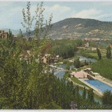 Postales: TARJETA POSTAL CLUB NATACION Y MONTE SAN CRISTOBAL PAMPLONA NAVARRA. Lote 16530575
