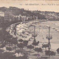 Postales: SAN SEBASTIAN (GUIPUZCOA): PASEO Y PLAYA DE LA CONCHA: BONITA TARJETA POSTAL, EDICION G. GALARZA, SI. Lote 16534772