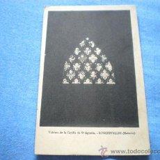 Postales: POSTAL NAVARRA RONCESVALLES VIDRIERA CAPILLA SAN AGUSTIN NO CIRCULADA. Lote 17005819