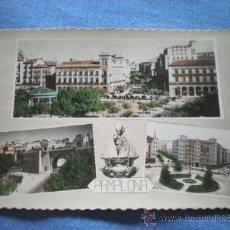 Postales: POSTAL PAMPLONA DIVERSOS ASPECTOS SAN FERMIN 1958 CIRCULADA. Lote 17006181