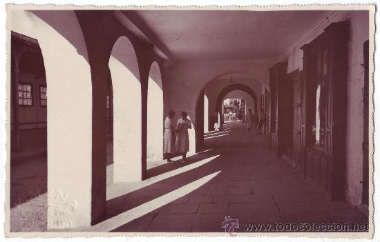 ELIZONDO (NAVARRA): LOS CUBIERTOS. F. MENA FOTÓGRAFO. NO CIRCULADA (AÑOS 20-30) (Postales - España - Navarra Antigua (hasta 1.939))