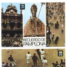 Postales: PAMPLONA / SAN FERMIN / 2 POSTALES 2 / ED. DOMINGUEZ N. 44 Y 73 / AÑOS 70 / NAVARRA. Lote 22458387