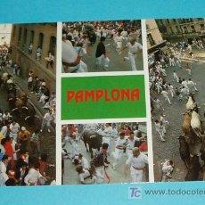 Postales: POSTAL EL ENCIERRO. PAMPLONA. NAVARRA. Lote 18736194