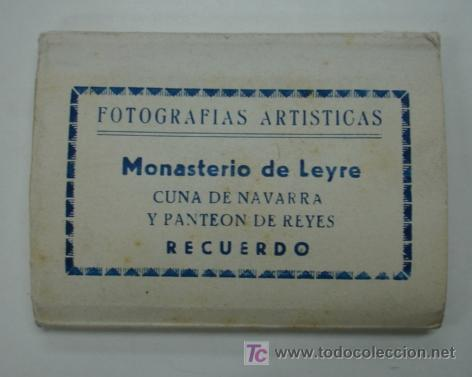MONASTERIO DE LEYRE. CUNA DE NAVARRA Y PANTEON DE REYES. 10 VISTAS FORMATO PEQUEÑO. (Postales - España - Navarra Antigua (hasta 1.939))