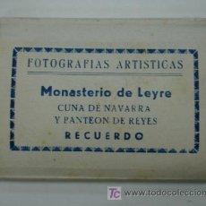 Postales: MONASTERIO DE LEYRE. CUNA DE NAVARRA Y PANTEON DE REYES. 10 VISTAS FORMATO PEQUEÑO. . Lote 18820239