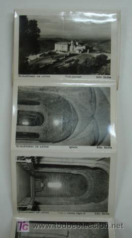 Postales: MONASTERIO DE LEYRE. CUNA DE NAVARRA Y PANTEON DE REYES. 10 VISTAS FORMATO PEQUEÑO. - Foto 2 - 18820239