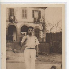 Postales: TARJETA POSTAL DE HUICI JOVEN AIZKOLARI NAVARRA. Lote 18951294