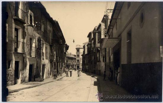 FOTOGRAFÍA DE CINTRUÉNIGO(NAVARRA).- CALLE LIGUÉS (Postales - España - Navarra Moderna (desde 1.940))