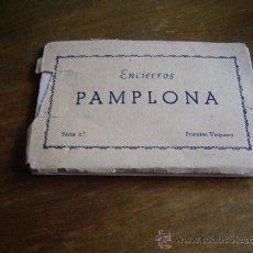 Postales: 10 TARJETAS POSTALES ANTIGUAS DE PAMPLONA ENCIERROS SERIE 2ª POSTALES VAQUERO. Lote 19283430