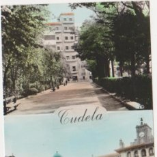 Postales: TUDELA PASEO DE INVIERNO Y PLAZA DE LOS FUEROS,EDICIONES PARIS J M ZARAGOZA. Lote 20049556