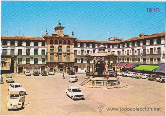 TUDELA PLAZA DE LOS FUEROS .KIOSCO,EDICIONES PARIS J M (Postales - España - Navarra Moderna (desde 1.940))