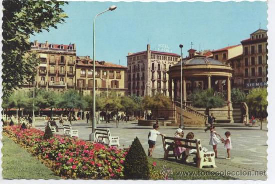 POSTAL PAMPLONA - PLAZA DEL CASTILLO - GARCIA GARRABELLA (Postales - España - Navarra Moderna (desde 1.940))