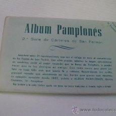 Postales: ALBUM PAMPLONES - 2ª SERIE DE CARTELES DE SAN FERMIN - 7 PRECIOSAS REPRODUCCIONES. Lote 21675428