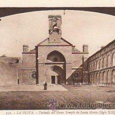 Postales: LA OLIVA - FACHADA DEL GRAN TEMPLO DE SANTA MARÍA, EDITOR: ROISIN Nº 151. Lote 22370861