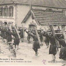 Postales: ANTIGUA POSTAL. BURGUETE Y RONCESVALLES - LAS CRUCES - RETOUR DE LA PROCESSION DES CROIX.. Lote 24609618
