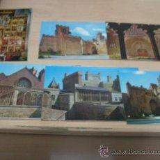 Postales: OLITE NAVARRA LOTE DE 7 POSTALES AÑOS 60 . Lote 24648720