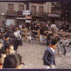 Postales: PAMPLONA - FIESTAS DE SAN FERMIN - EL ENCIERRO DE LOS TOROS. Lote 25395432