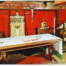 Postales: POSTAL SANTUARIO DE LOYOLA CAPILLA DE LA CONVERSIÓN FOTO J ECHEZARRETA MANIPEL 1966 ESCRITA. Lote 25968773