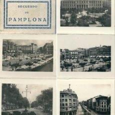 Postales: 7296 PAMPLONA. .RECUERDO DE EDICIONES ARRIBAS - ALBÚM DE (10) MAGNIFICAS Y ANTIGUAS VISTAS (10X7CM). Lote 26606843