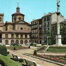 Postales: PAMPLONA Nº 27 IGLESIA DE SAN LORENZO Y MONUMENTO A LA INMACULADA ESCRITA CIRCULADA SELLO. Lote 27317708