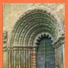 Postales: PUENTE LA REINA - NAVARRA - PORTAL DE LA IGLESIA DE SANTIAGO - EXCLUSIVA RESTAURANTE GARÉS. Lote 27336686