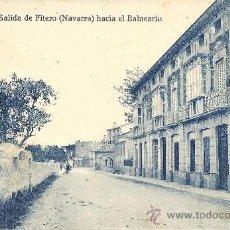 Postales: PS1863 FITERO 'SALIDA HACIA EL BALNEARIO'. NÚM. 9. ED. FALCES Y BOZAL. SIN CIRCULAR. Lote 27622260