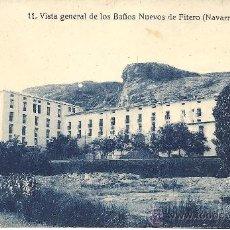 Postales: PS1860 FITERO 'VISTA GENERAL DE LOS BAÑOS NUEVOS'. NÚM. 11. ED. FALCES Y BOZAL. SIN CIRCULAR. Lote 27622281