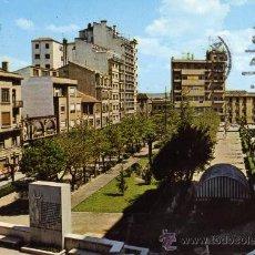 Postales: TUDELA Nº 3 PLAZA DE GAZTAMBIDE Y MONUMENTO A LOS FUEROS EDICIONES SICILIA ESCRITA CIRCULADA SELLO. Lote 28029018