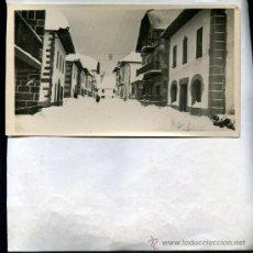 Postales: POSTAL BURGUETE (NAVARRA) PAISAJE NEVADO OFERTA SOLO HOY. Lote 28158147