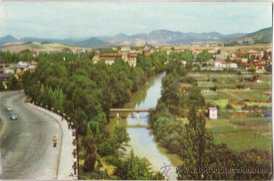 PAMPLONA - RIO ARGA Y VISTA PARCIAL - Nº 7 - SIN CIRCULAR - ED. EX. VENTA POSTAL - AÑO 1960 (Postales - España - Navarra Moderna (desde 1.940))