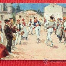 Postales: EL AURRESKU - NAVARRA - 1910. Lote 28451776
