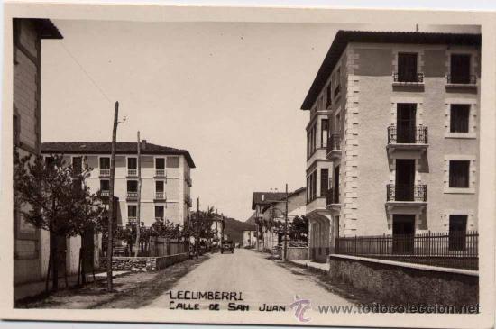 LECUMBERRI (NAVARRA).- CALLE DE SAN JUAN (Postales - España - Navarra Moderna (desde 1.940))