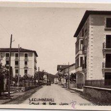 Postales: LECUMBERRI (NAVARRA).- CALLE DE SAN JUAN. Lote 28611114