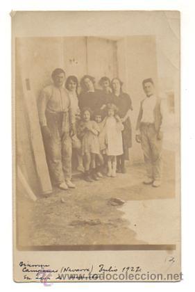 BIURRUN (NAVARRA) JULIO 1922. POSTAL FOTOGRÁFICA. (Postales - España - Navarra Antigua (hasta 1.939))