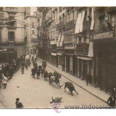 Postales: PAMPLONA. ENCIERRO SAN FERMÍN 1925. (POSTAL FOTOGRÁFICA). Lote 28829619