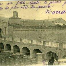 Postales: POSTAL PAMPLONA PUERTA DE SAN NICOLAS CON GENTES DEL LUGAR. Lote 29029875