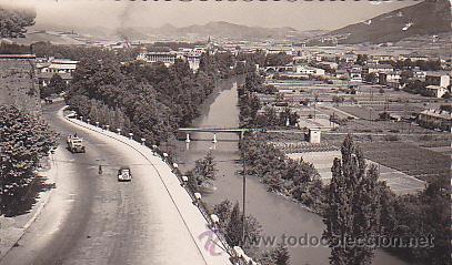 POSTAL PAMPLONA RIO ARGA (Postales - España - Navarra Moderna (desde 1.940))