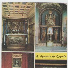 Postales: SANTUARIO DE SAN IGNACIO DE LOYOLA - CAPILLAS INTERIORES - EDICIÓN FOTO ZARAUZ - POSTAL. Lote 30500271
