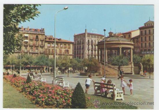 PAMPLONA - PLAZA DEL CASTILLO - EDICIÓN GARRABELLA - POSTAL (Postales - España - Navarra Moderna (desde 1.940))