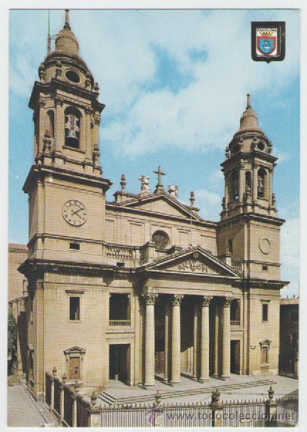 PAMPLONA - FACHADA CATEDRAL - EDICIÓN ESCUDO DE ORO - POSTAL (Postales - España - Navarra Moderna (desde 1.940))