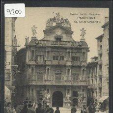 Postales: PAMPLONA - EL AYUNTAMIENTO - EUSEBIO RUBIO - (9200). Lote 30691507