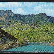 Postales: 518.- MONASTERIO Y SIERRA DE LEYRE, DESDE EL PANTANO DE YESA. MAR DEL PIRINEO. Lote 30723345